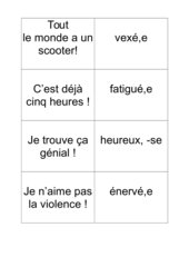 Jeu sentiments