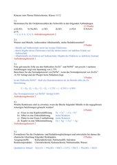 Klausur Elektrochemie