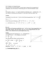 zwei Aufgaben zur Fläche zwischen zwei Funktionsgraphen