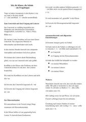 Fragebogen: ich, der Unterricht, meine Klasse, meine Schule