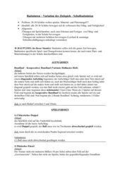 Schulbadminton - Variation des Zielspiels