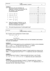 Nullstellen - Linearform ganzrationaler Funktionen