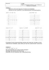 Vielfachheit von Nullstellen ganzrationaler Funktionen 2. und 3. Grades