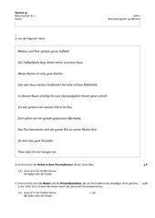 Klassenarbeit Verben, Nomen, Personalpronomen, Zeitformen