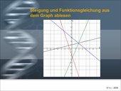 Funktionsgleichung aus dem Graphen bestimmen