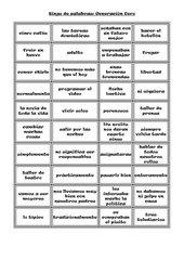 Wortbingo zu Encuentros Unidad 1A Generación Cero