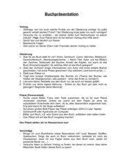 Checklisten für Buchpräsentationen in der GS