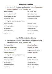 Satzarten - Punktsatz, Rufsatz und Fragesatz