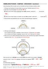 Himmelsrichtungen-Kompass-Drehungen-Geodreieck/  mathe live 6 Klett
