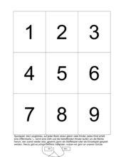 Ziffernkarten 1 - 9