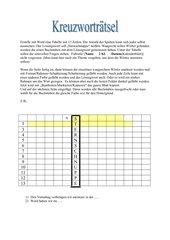 Kreuzworträtsel in Word (Tabelle)