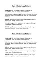 die 5-schritt-methode lesen methodenkarte