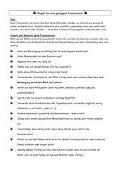 Regeln für eine gelungene Präsentation