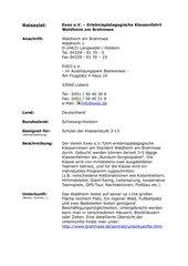 Erlebnispädagogische Klassenfahrt - Exeo e.V. - Waldheim am Brahmsee - Schleswig Holstein