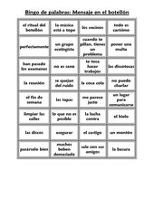Wortbingo Mensaje en el botellón Encuentros 2