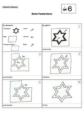 Fenstersterne - Transparentpapier-Sterne