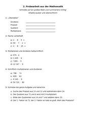 Grundrechenarten - Multiplizieren und Dividieren
