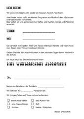 Klassen-Advent-Fest: Einladungskarte