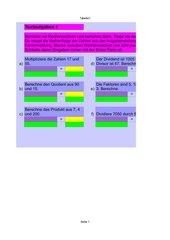 Textaufgaben - Fachausdrücke (+,-,*,:)