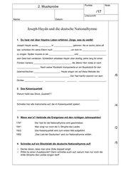 Musikprobe Joseph Haydn/Deutsche Nationalhymne