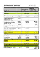 Berechnung des Nettolohns (Excel-Datei) Neu 2013