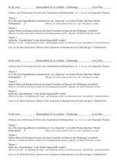 Eroerterung / Stellungnahme: 3 Themen (KA)