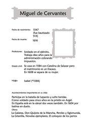 Steckbrief Miguel de Cervantes