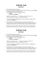 Spiel: Triff die Null! - Rationale Zahlen addieren und subtrahieren
