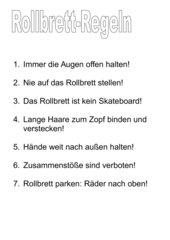 Rollbrett-Regeln