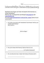 Baden-Württemberg; Internetrecherche