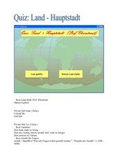 Quiz Land- Hauptstadt in Visual Basic