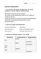 Grammatiktest Klasse 3