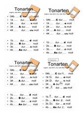 Tonarten Dur + Moll
