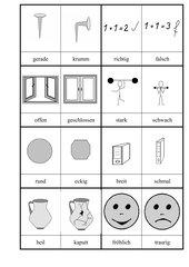 Pictogramme Gegensätze 2
