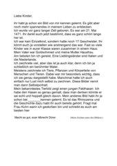 Albrecht Dürer: Arbeitsblatt und Brief