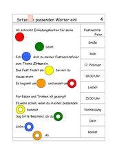 Logico Lückentext Einladungskarte, Grundschule
