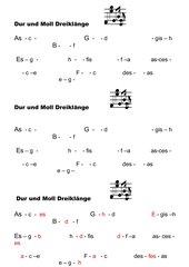Dur und Moll Dreiklänge