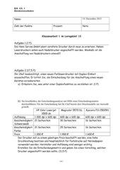 Klassenarbeit mit Lösungen zum Thema Drucken und Kopieren