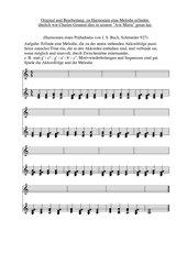 Melodie zu einer Akkordfolge erfinden