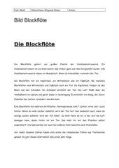 Die Blockflöte
