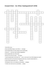 Kreuzwort OHG