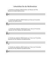 Arbeitsblatt Molldreiklänge