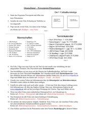 Die Fußball-Bundesliga - Powerpointpräsentation