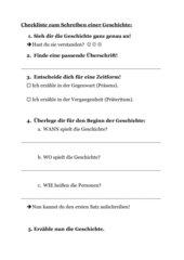 Checkliste zum Schreiben und Überarbeiten von Bildergeschichten