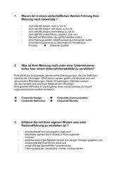 Arbeitsblatt Personalwirtschaft
