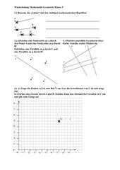 Übungen zur Klassenarbeit Geometrie 5 HS RLP