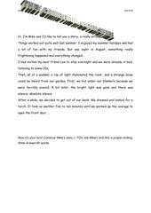 They came from outer space   - creative writing