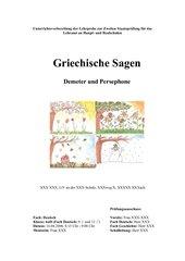 Griechische Sagen: Demeter und Persephone