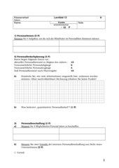 Leistungskontrolle Einzelhandel Lernfeld 13