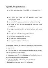 Regeln im Sportunterricht
